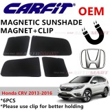 CARFIT OEM Magnetic Custom Fit Sunshade For Honda CRV Yr 2013-2016 (6pcs Sets)